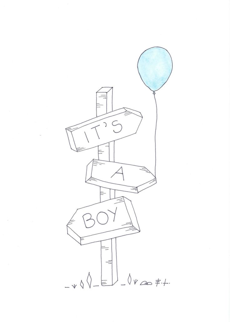 It's a boy, download istantaneo, poster stampabile, annuncio nascita, baby shower di ELdesingArt su Etsy