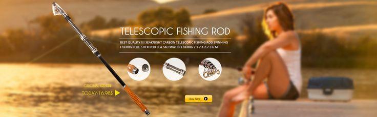 SeaKnight Carbon telescopic fishing rod Spinning Fishing Pole Stick Pod Sea Saltwater Fishing 2.1 2.4 2.7 3.6 m