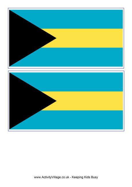 Bahamas flag printable