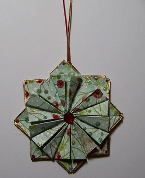 directions for tea bag folded ornament... would be wonderful for xmas
