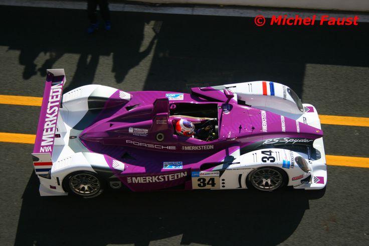 Van Merksteijn Motorsport Porsche RS Spyder [9R6-708]  Peter van Merksteijn  Jos Verstappen  Jeroen Bleekemolen Le Mans 2008 Essais