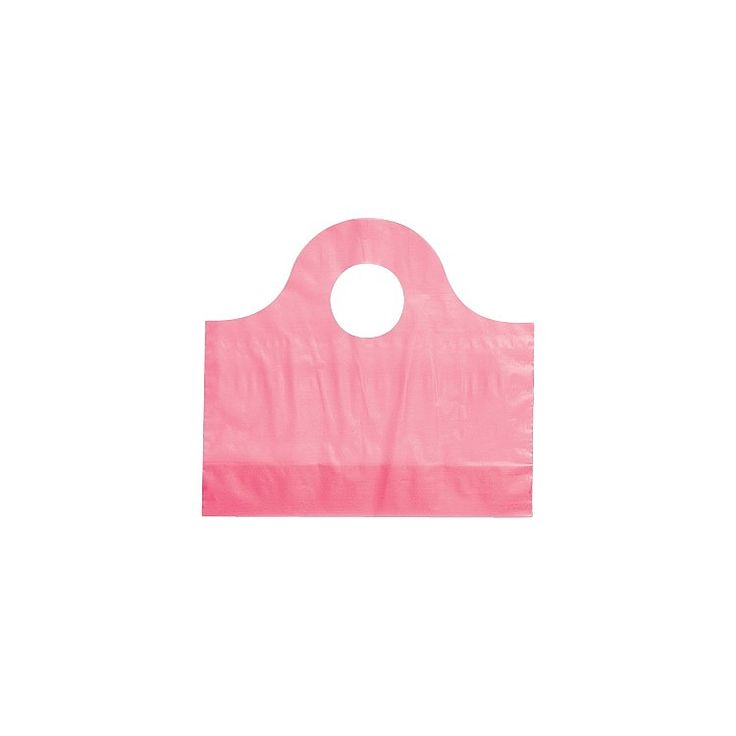 Made with 2.25 mil HDPE plastic these frosted tide top bags have die cut handles and a bottom gusset.