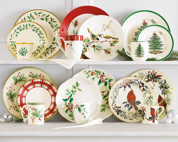 352 Best Images About Christmas Dinnerware On Pinterest