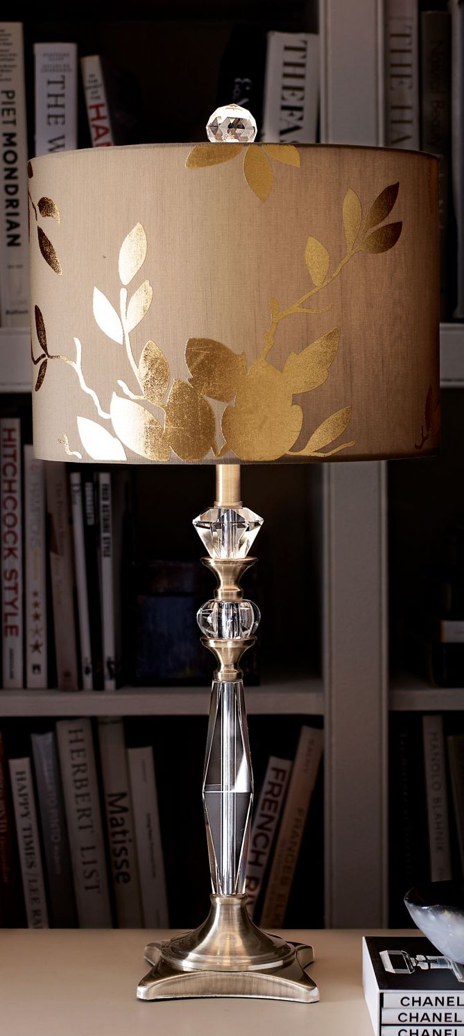 The 25 best gold lamp shades ideas on pinterest gold lamps golden leaf table lamp aloadofball Choice Image