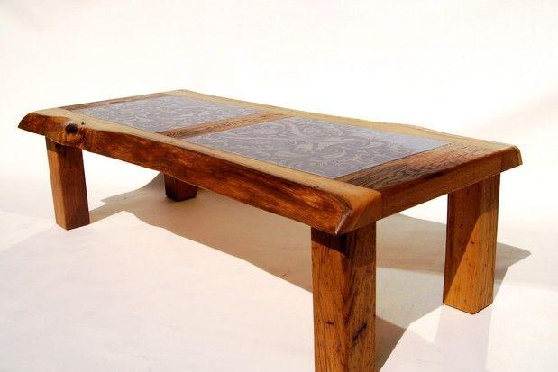 Esstisch Escoba Aus Akazie Massivholz Mit Baumkante ~ Großer Couchtisch, Wohnzimmertisch aus Altholz Eiche mit Baumkante und Metall