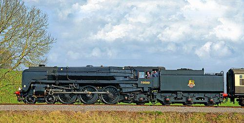 British Rail  Britannia class locomotive No. 70000.