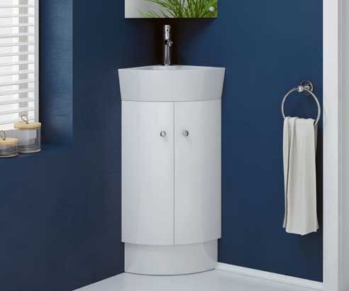 Rivera White 325 Cloakroom Freestanding Corner Vanity Unit with Sink    V50121035BW scene square medium. The 25  best Corner vanity unit ideas on Pinterest   Corner sink