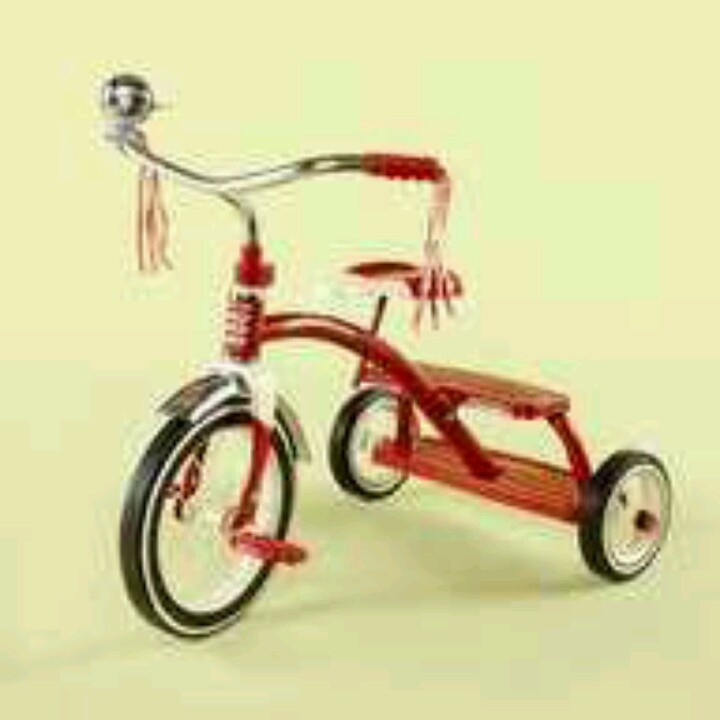 Remember the tricycle?  I gave my son one of these when he was 3