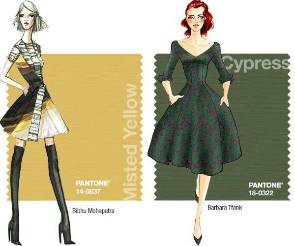 pantone fal 2014 cypress | Pantone Fall 2014: Misted Yellow and Cypress