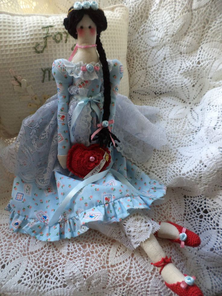 Tilda doll Hand Made Valentine/Home decoration/Birthday gift/Beautiful Detail