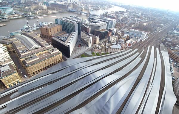 London Bridge station completed will have full length canopies along each platform via @TLProgramme: