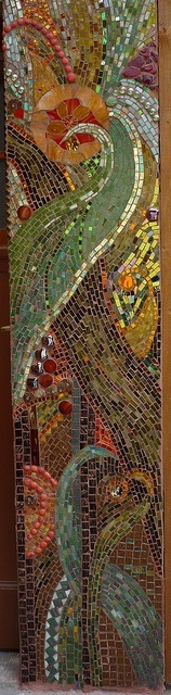 PRETTY WALL MOSAIC. By: Mosaikstall, via Flickr...