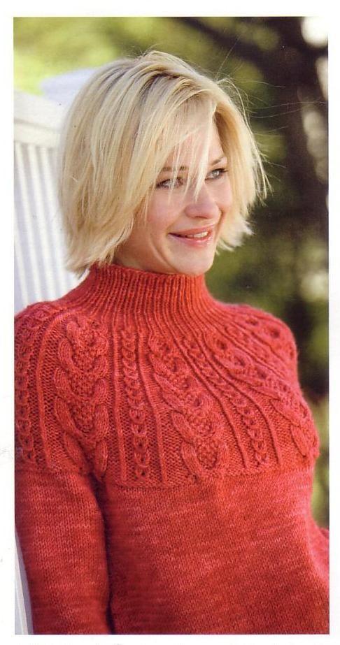 Пуловер с рельефной кокеткой. Комментарии : LiveInternet - Российский Сервис Онлайн-Дневников