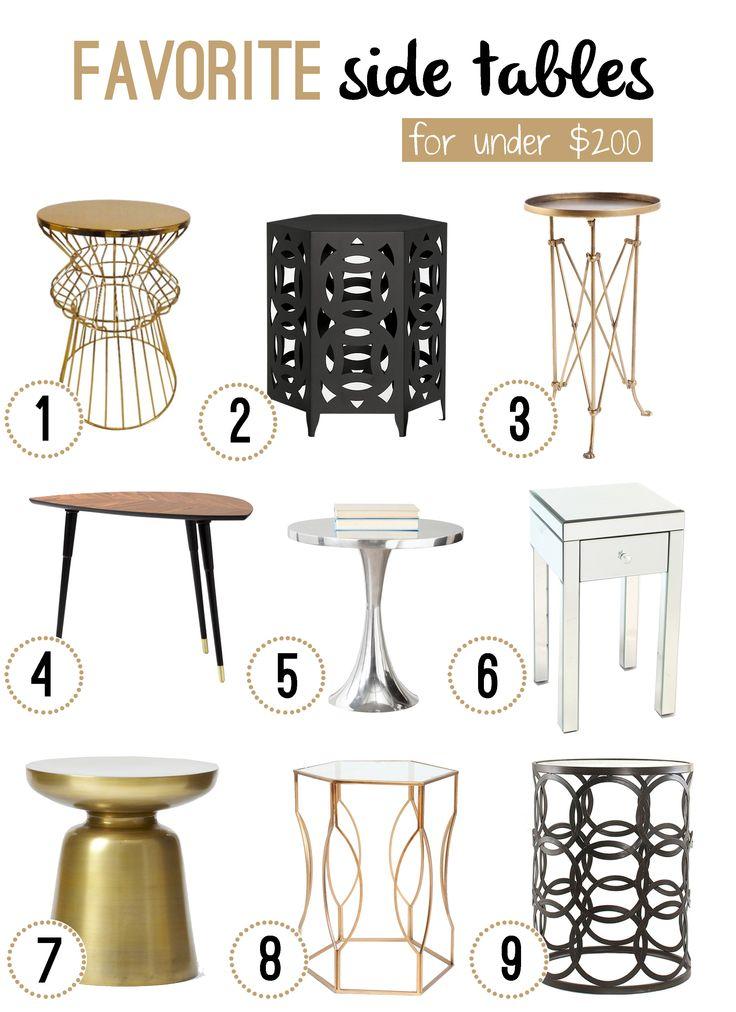Favorite Side Tables For Under 200