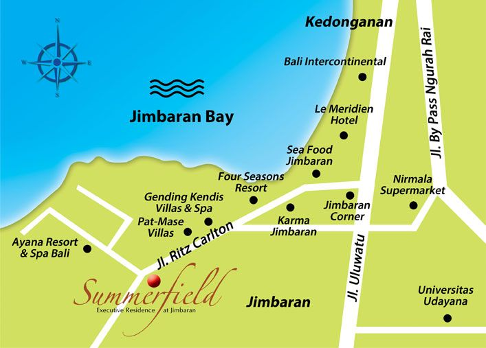Lokasi Summerfield Bali www.madepropertybali.com