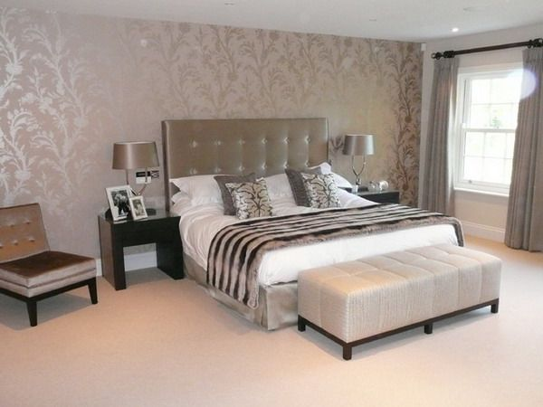 17 best bedroom decorating ideas on pinterest master for Bedroom designs wallpaper
