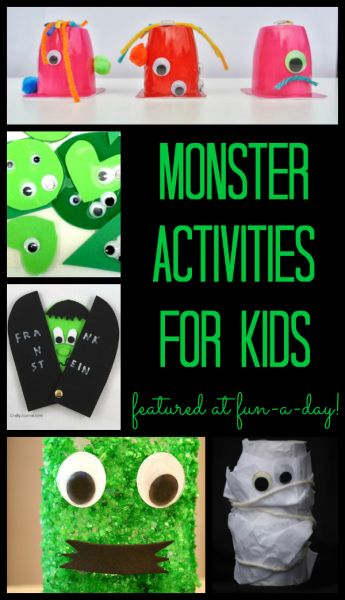 Monster Activities for the Kiddos featured at www.fun-a-day.com