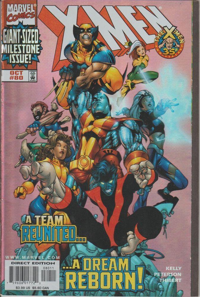 X Men Vol 2 80 Foil Cover Marvel Comics 1998 Vf Nm Condition Comics X Men Comic Book Artists