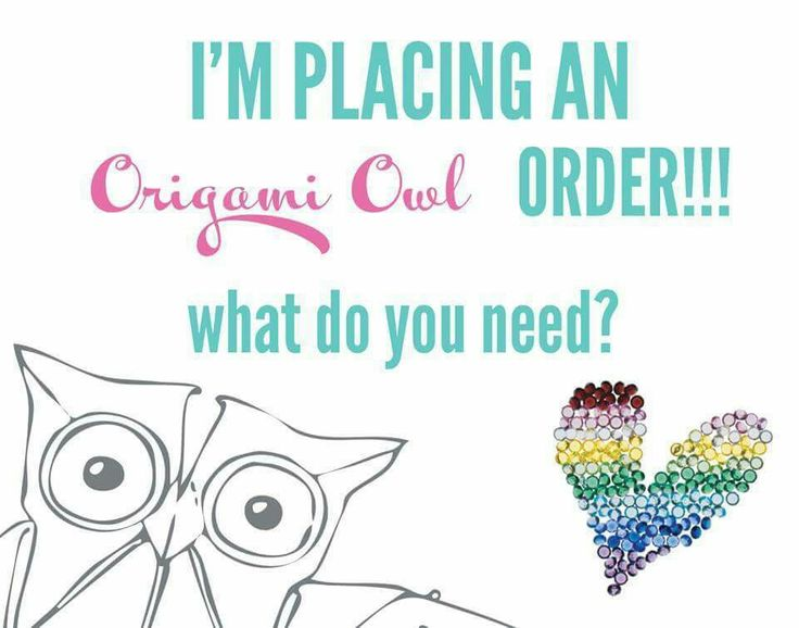 I'm getting ready to place an Origami Owl order. :) Let me know by Sunday evening if you want anything! Or you can shop and order online here: www.JuliePickering.OrigamiOwl.com/shop/party/83841
