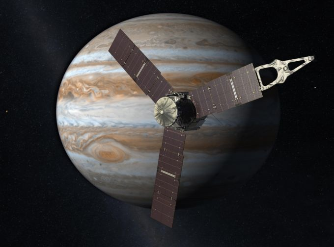 After five years, Juno arrives in orbit around Jupiter -  After traveling five years through the solar system, Juno has finally reached its destination and is currently in orbit around Jupiter, traveling nearly 250,000 kilometers per hour (150,000 mph). Read More          TechCrunch  | http://goo.gl/3BTAof