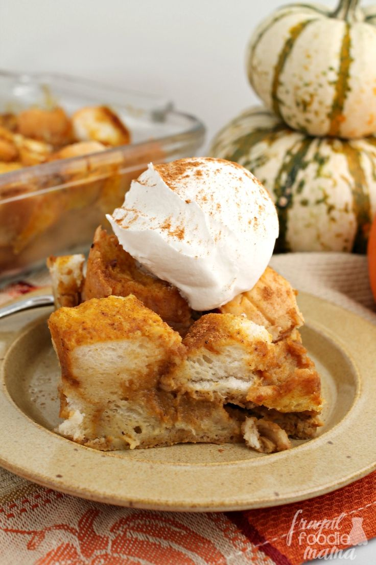 This creamy Overnight Pumpkin Chai French Toast can be assembled the night before making it perfect for Thanksgiving breakfast & busy fall mornings.