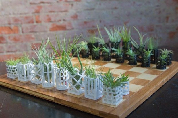 3D Printed Chess & Air Plants par Living Chess - Journal du Design