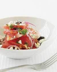 Watermelon Salad with Feta | The combination of sweet watermelon, salty olives and creamy feta makes this salad from cookbook author Melissa Clark addictive.