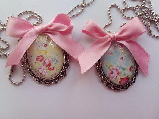 Lovely colgante romantico collar
