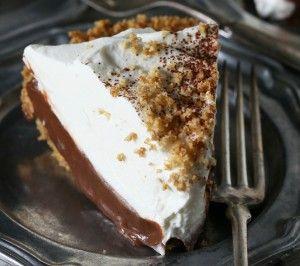 Chocolate Orange Pudding Pie with Pretzel Crust recipe Cake Boss