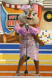 Clarice sing her songs to support the racers  Sung by Tress MacNeille