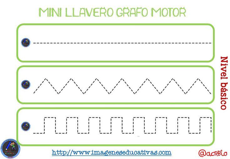 Llavero para trabajar la Grafomotricidad diferentes niveles (2)