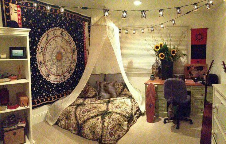 Hippie Bedroom hippie #room #mandala #alineymarques … | pinteres…