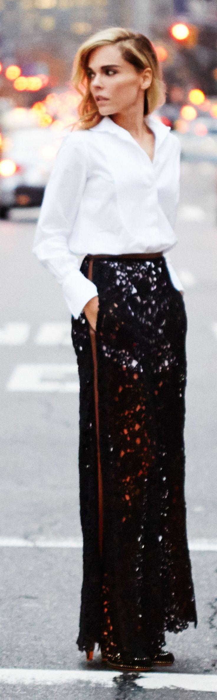 Black Multi Sequin Maxi Skirt by Styleheroine ~ {FASHION} Favorites