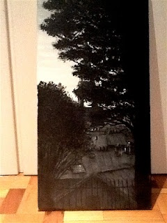 Tetti parigini.  Acrylic on canvas.  03.02.2010