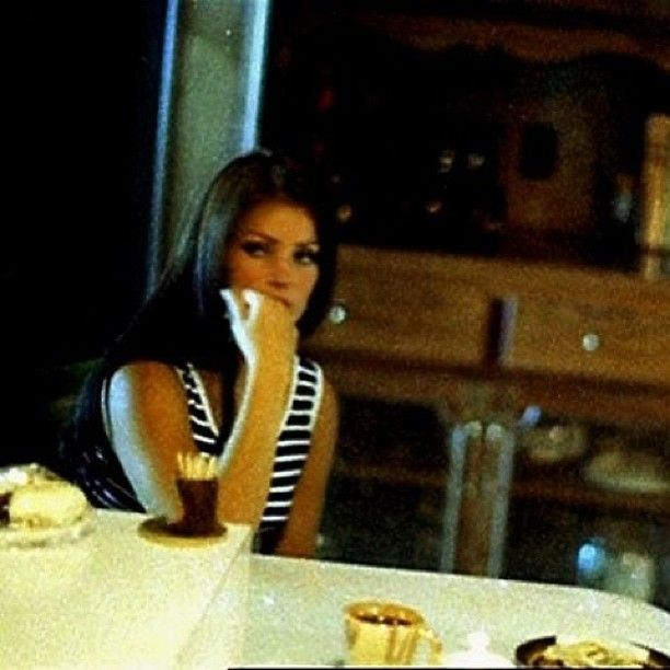 Priscilla Presley in the kitchen at Graceland.