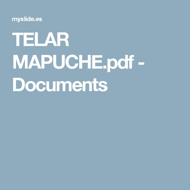 TELAR MAPUCHE.pdf - Documents