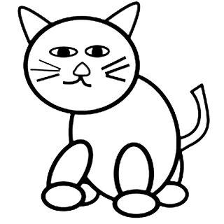 Gambar Mewarnai Gambar: Gambar mewarnai kucing untuk anak.