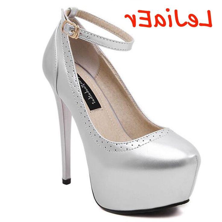 27.64$  Buy here - https://alitems.com/g/1e8d114494b01f4c715516525dc3e8/?i=5&ulp=https%3A%2F%2Fwww.aliexpress.com%2Fitem%2Fankle-straps-heels-bridal-shoes-sapatos-de-salto-alto-silver-pumps-high-heels-shoes-pumps-women%2F32703559700.html - ankle straps heels bridal shoes sapatos de salto alto silver pumps high heels shoes pumps women shoes heels party shoes D685 27.64$