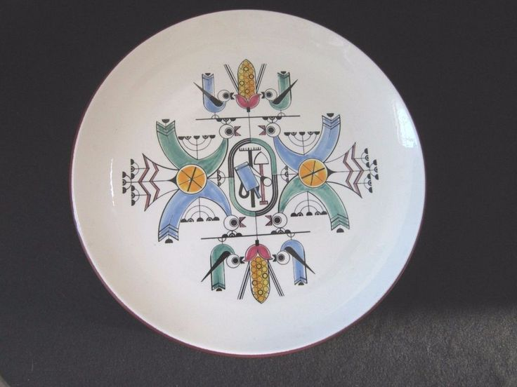 "Mid-Century 12.5"" Charger Plate  PIOTR BARO / KNABSTRUP POTTERY / DENMARK"