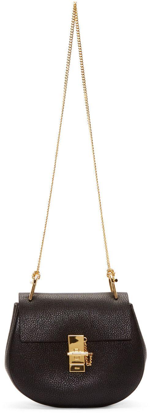 Chlo¨¦ Black Small Drew Chain Shoulder Bag | to wear | Pinterest
