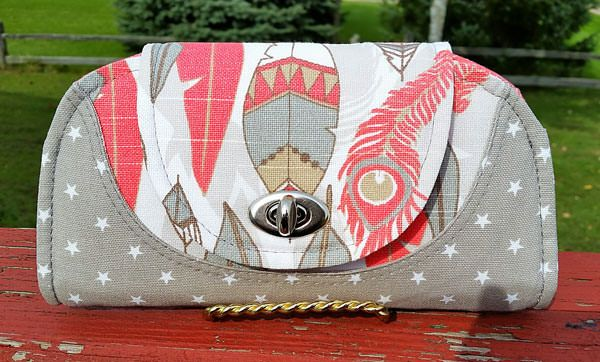 Cleo Everyday Wallet - Andrie Designs bag patterns  Paper and PDF bag patterns