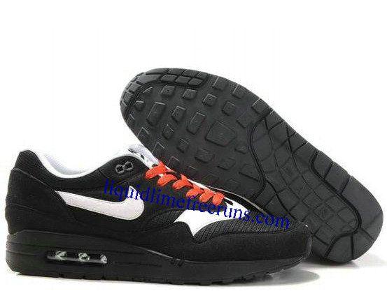 Mens Nike Air Max 1 Black Sail Black Spice Shoes
