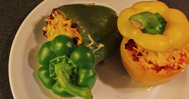 Gevulde Regenboog Paprika's - A bite of cravings - gezonde recepten, inspiratie en lifestyle - koken, bakken en andere creaties - leuke weetjes voor in de keuken - foodblog -