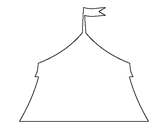 Circus tent pattern. Use the printable outline for crafts, creating stencils, scrapbooking, and more. Free PDF template to download and print at http://patternuniverse.com/download/circus-tent-pattern/