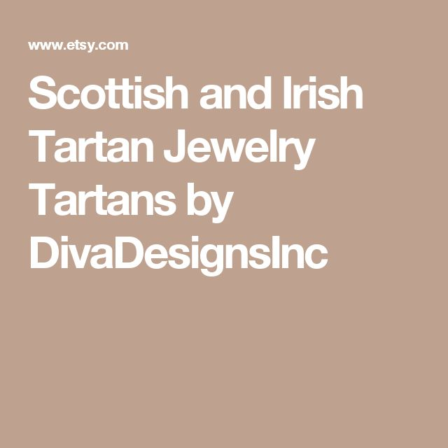 Scottish and Irish Tartan Jewelry  Tartans by DivaDesignsInc