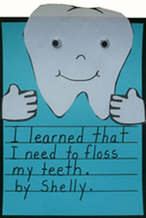 Taking Care of My Teeth Writing-Craft Activity