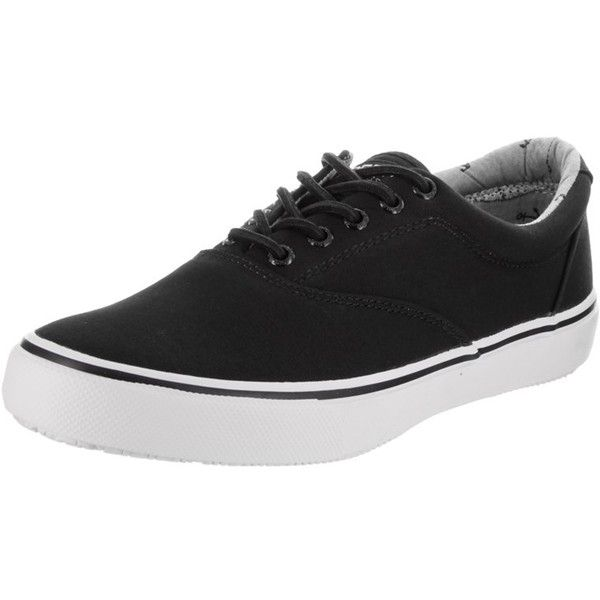Sperry Sperry Top-Sider Men's Striper Ll Casual Shoe | Bluefly.Com (730 ZAR) ❤ liked on Polyvore featuring men's fashion, men's shoes, black, shoes, mens canvas shoes, mens black canvas shoes, mens shoes, mens black shoes and sperry mens shoes