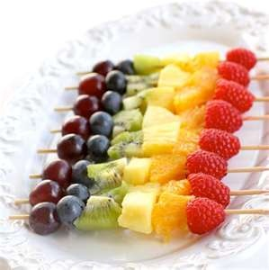 Cute! Rainbow kabobs (St. Patty's Day... or any summer get together)