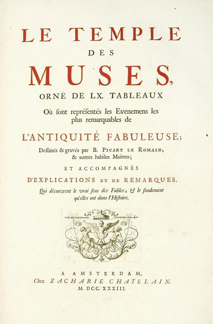 LE TEMPLE DES MUSES | Zacharie Chatelain, 1733  Illustrations de Bernard Picart