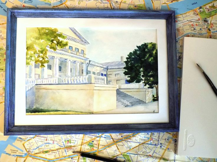 """The Yusupov Palace. Petersburg"" Watercolor 20*29. #Watercolor Repina N."